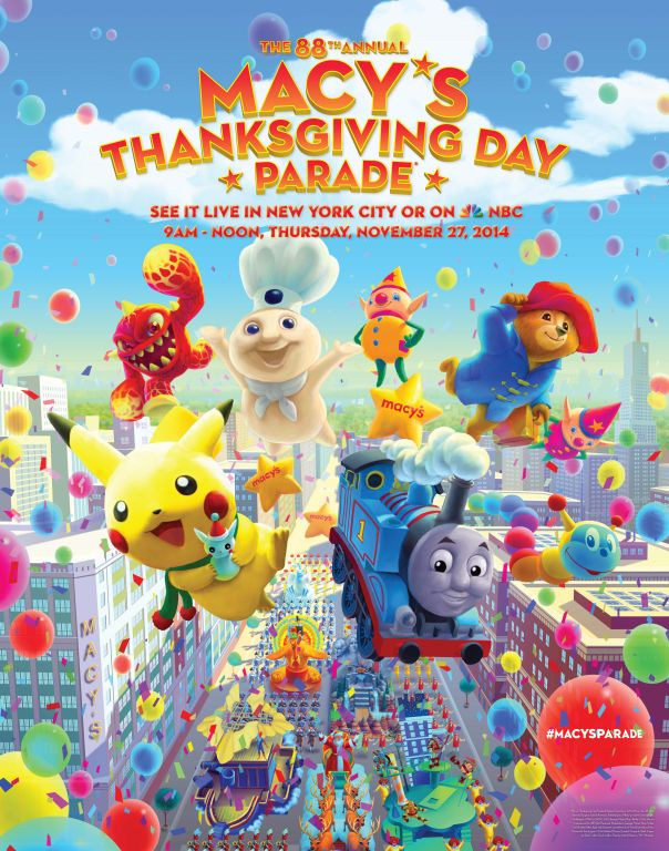 2014 Macy's Thanksgiving Day Parade Poster (1)